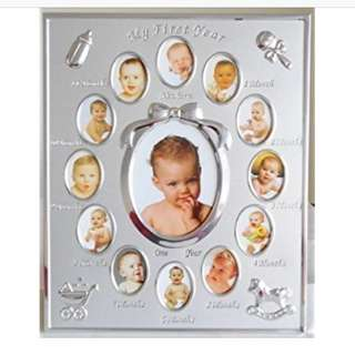 First Year Baby Frame Silver