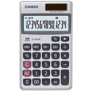 Kalkulator Saku CASIO SL340VA Original Garansi Resmi