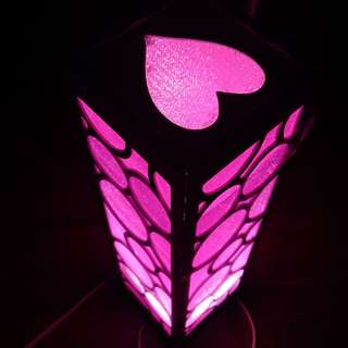 Lampu tidur pink