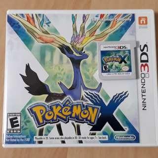Pokemon X Cartridge Nintendo 3DS
