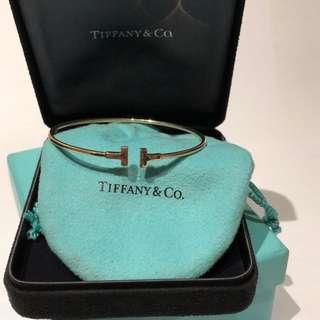 Tiffany & Co Bracelet 24k gold T-wire medium size