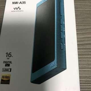 SONY NW-A35 16GB 藍綠色 無單無保