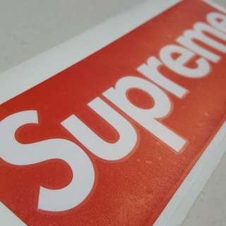 Original Supreme Vinyl Sticker for Vehicles and EScooters 20.4cm by 7cm