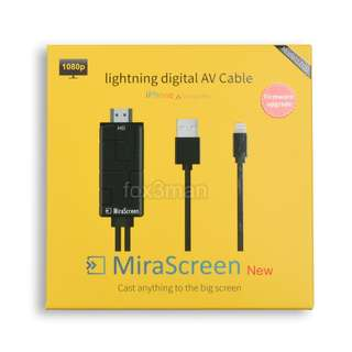 Mirascreen Lightning to HDMI Cable iPhone/iPad 直出高清電視IOS11