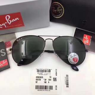 ray ban polarized aviator lenses rb3025 002/58 rayban brand new full packages original