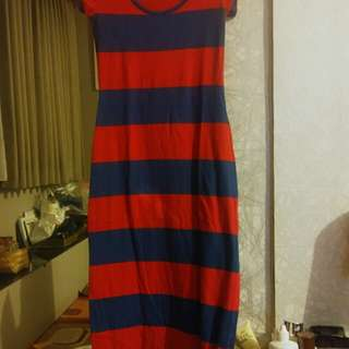 Dress blue red