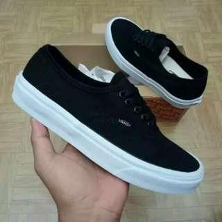 Sepatu Vans Authentic Mono Black Premium