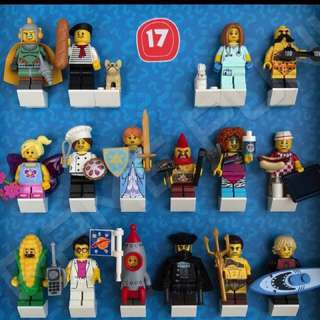 Complete set of Lego 71018 series 17 minifigures (16 minifigs)