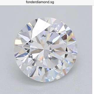 GIA Diamonds brand new with receipt 916 gold 18k white gold