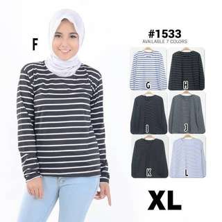 Stripes O-Neck T-shirt (Size XL)