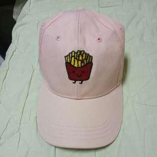 🚚 粉色薯條 老帽 鴨舌帽 棒球帽