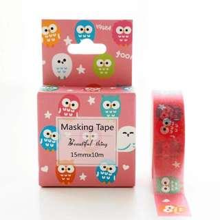 Owl Washi Tape