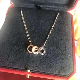 Cartier necklace diamonds love