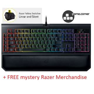 (BNIB) Razer Blackwidow Chroma V2 (Yellow Switch) (Gaming Keyboard) & Free Mystery Razer Merchandise