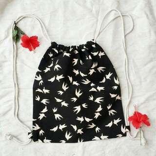 Black String Bag Dove
