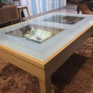 Coffee Table with Tampered Glass