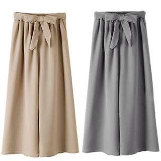 Bowknot Wide Leg Pants