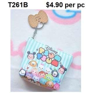 Tsum Tsum Coin/Key Pouch T261B