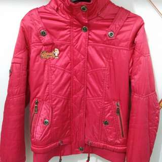 BOMBER Jacket size M Shocking Pink