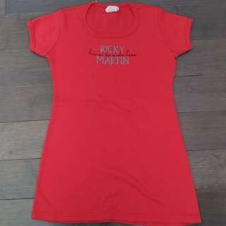 Ricky Martin Livin la Vida loca red shirt