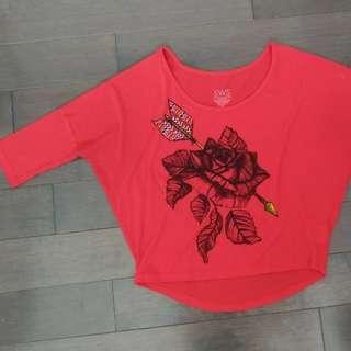 Urban Planet Red Batwing Shirt