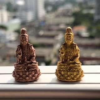 (PREORDER) - $58 -  Thai Amulet - Guan Yin Roop Lor Phim Lek - Rose Gold - Gold Plated - Thai Amulets