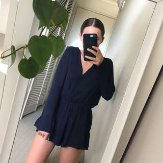 Navy Playsuit Princess Polly // Size Small
