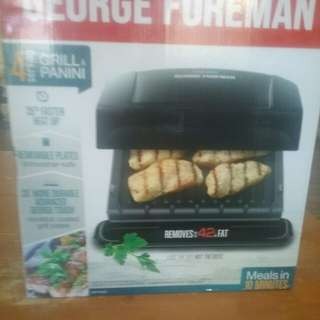 George Foreman 4 serving grill/panini