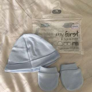 🆕 Mothercare Hat And Mittens (up To 3 Months )