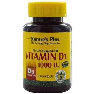 Supplement D3 1000 iu Nature's Plus