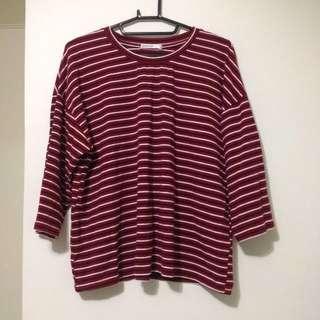 (兩款)紅條紋上衣