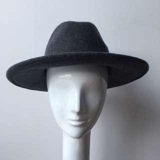 ASOS Charcoal Grey Wool Fedora Size M