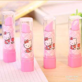 Hello kitty lipsticks eraser