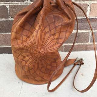 Hand Crafted Leather Backpack