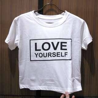 Kaos Crop Love Yourself