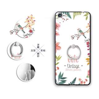 Tropical Case with Ring for iPhone, Oppo, Huawei