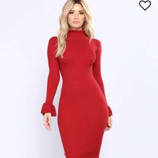 Fashion Nova red dress