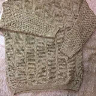 Vintage 'Covers'Gold jumper