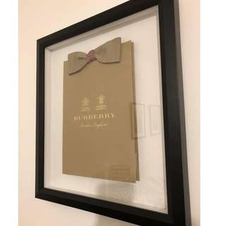 Authentic BURBERRY LONDON Pop Art in Black Shadow Box