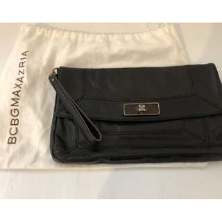 Authentic BCBG Black Leather Clutch - RETAIL: $323