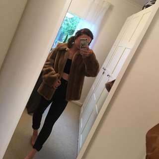 Faux-fur true vintage coat