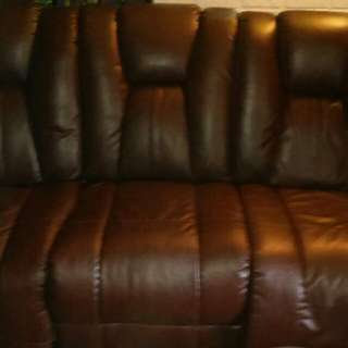Nice leather reclining couch