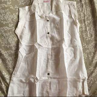 Chictees white sleeveless top