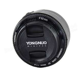 Yongnuo 50mm Canon Mounted