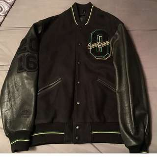 2016 OVO X ROOTS LEATHER VARSITY JACKET only 1 of 20!