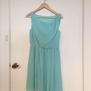 Baby blue formal dress