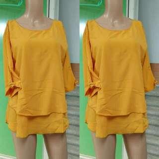 Shirt atasan baju yellow kuning
