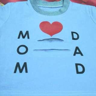 Mom&dad infant shirt hipster