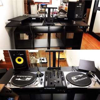Carpenter Fabricated Customised DJ Console / Custom To Dimension DJ Console / Custom Speaker Stand  / Custom Carpentry / Speaker Stand / Room DJ Table / TV Console