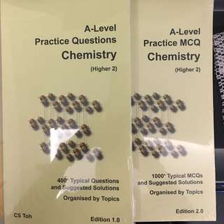 A Level practice questions chemistry (H2) and A level practice MCQ Chemistry